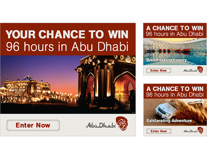 For the Abu Dhabi online advertising campaign RADAR developed integrated online advertising