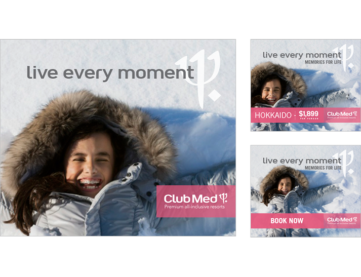 ClubMed approached RADAR to develop a winter advertising campaign that would bring the new branding to life in the Australian market and express the benefits for their customers of their Premium All Inclusive offering.