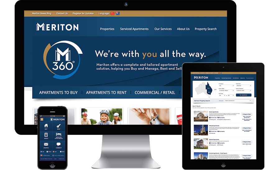 Meriton approached RADAR to build a robust online website platform for the ongoing marketing of Meriton properties