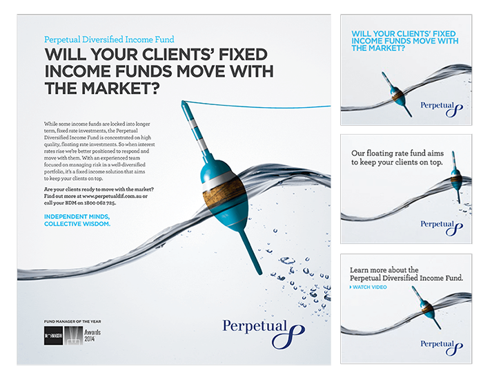 Perpetual approached RADAR to develop engaging advertising campaign to build awareness of Perpetual's Diversified Income