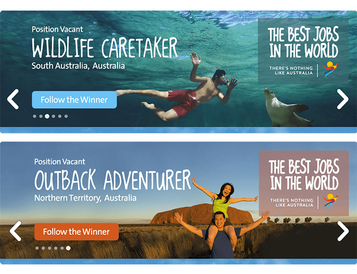 CareerOne & Tourism Australia approached RADAR to produced a digitally led, online advertising campaign for Tourism Australia's 'Best Jobs In The World'