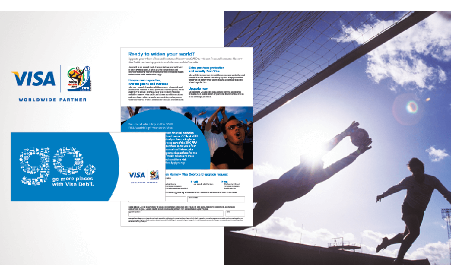 Visa Debit engaged RADAR to develop an engaging and compelling national DM campaign